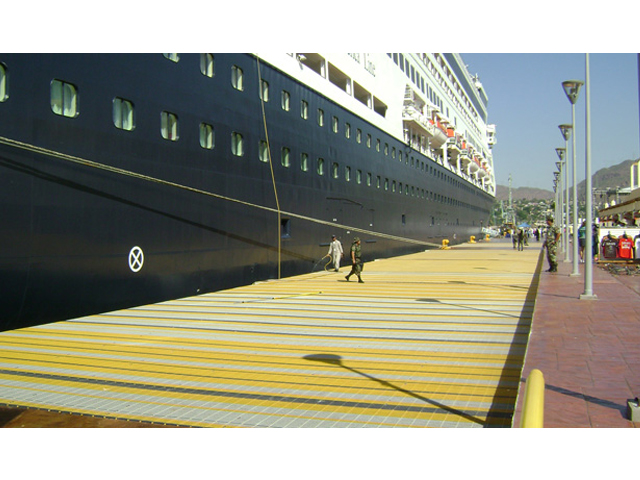 Fiberglass Pultruded Grating Dock