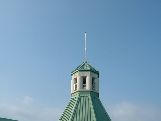 Fiberglass Reinforced Plastic Radio Frequency Transparent Plate Steeple Antenna Concealment