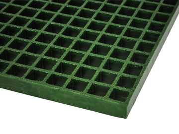 Antimicrobial Grating, Rejilla Moldeada en Color Verde con Superficie Granulada